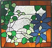 Panel Glass Art - Spring Blooms by Liz Shepard