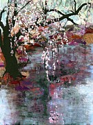 White Blossoms Paintings - Spring Blossoms by Ethel Vrana
