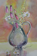 Foxglove Flowers Painting Framed Prints - Spring Bouquet Framed Print by Amy Householder