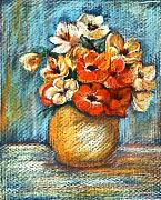 Oil Drawings - Spring Bouquet by Enzie Shahmiri