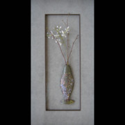 Brass Etching Sculptures - Spring by Brenda Berdnik