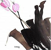 Sumi Ink Framed Prints - Spring Framed Print by Casey Shannon