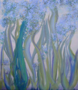Abstract Wildlife Paintings - Spring Celery by Susan Patton