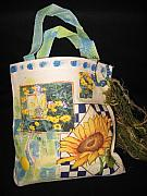 Sunflowers Tapestries - Textiles - Spring Collage by Sandy Krage