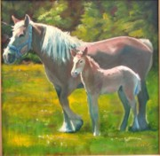 Colt Paintings - Spring Colt by John  Reynolds