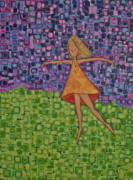 Dancing Girl Paintings - Spring by Donna Howard