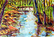 River View Paintings - Spring Eel by Charlie Spear
