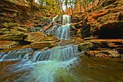 Pa State Parks Photos - Spring Falls Runoff by Adam Jewell