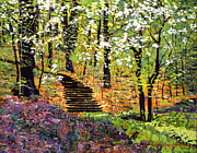 Pathway Paintings - Spring Fantasy Forest by David Lloyd Glover