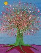 First Star Art Paintings - Spring Fantasy Tree by jrr by First Star Art