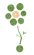 Green Drawings Posters - Spring Flower Poster by Frank Tschakert