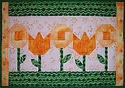 Featured Tapestries - Textiles Originals - Spring Flowers by Pam Geisel