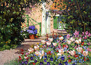 Impressionism Oil Paintings - Spring Flowers  by Roelof Rossouw