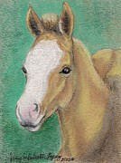 Animal Portraits Pastels - Spring Foal by Jamey Balester