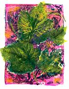 Grape Leaves Posters - Spring Glow Poster by Bondi Studios