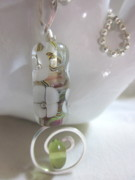 Ball Jewelry - Spring Green and Flowers Necklace by Janet  Telander