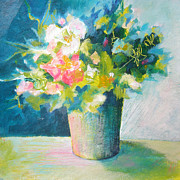 Pictures Of Spring Posters - Spring Green Posy Poster by Susanne Clark