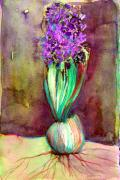 Bulb Mixed Media - Spring Hyacinth by Mindy Newman