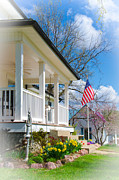 Front Porch Posters - Spring in America Poster by Christine Belt