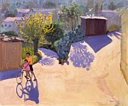 Bicycles Paintings - Spring in Cyprus by Andrew Macara