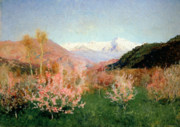 1900 (oil On Canvas) Paintings - Spring in Italy by Isaak Ilyich Levitan