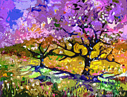 Trees Blossom Paintings - Spring In Provence  by Ginette Fine Art LLC Ginette Callaway