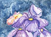Lively Colors Prints - Spring iris Print by Dina Soker