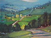 Berkshire Hills Paintings - Spring Is Here by Len Stomski
