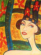 Modigliani Mixed Media Prints - Spring Is In The Air... Print by Anastasis  Anastasi