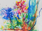 Colorful Floral Gardens Paintings - Spring Is In The Air by Chrisann Ellis