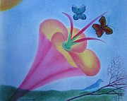 Bluebird Pastels - Spring is in the air by Margrit Schlatter