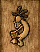Wood Work Reliefs - Spring Jam b by David Taylor