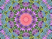 Spring Kaleidiscope Garden  Print by Sue Studio