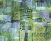 Drips Paintings - Spring Lime by Lee Ann Asch