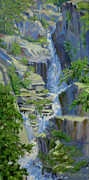 Mountaintop Paintings - Spring Melt by L Diane Johnson