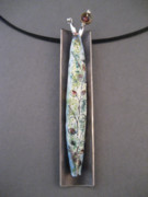 Stiched Jewelry - Spring Necklace by Brenda Berdnik