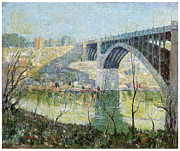 Harlem Paintings - Spring Night Harlem River by Ernest Lawson
