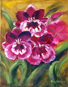 Mothers Day Painting Prints - Spring Orchids Print by Karin  Leonard