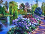 Florals Paintings - Spring Park by David Lloyd Glover