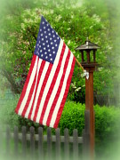 Slat Posters - Spring Patriot Poster by Cindy Wright