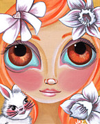 Spring Princess Print by Jaz Higgins