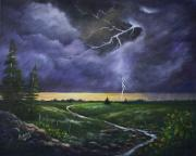 Thunder Paintings - Spring Rain by Marlene Kinser Bell
