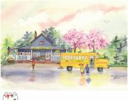 Spring Rain Print by Melody Allen