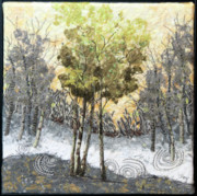 Morning Tapestries - Textiles - Spring Rising by Lorraine Roy