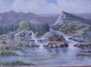 Flooding Painting Prints - Spring Runoff Print by KC Knight
