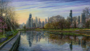 Skylines Paintings - Spring Serenity  by Doug Kreuger