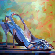 Wine Gallery Art Paintings - Spring Shoes by Penelope Moore