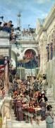 Crowds Paintings - Spring by Sir Lawrence Alma-Tadema