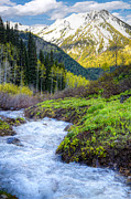 Wasatch Posters - Spring Snow Melt Wasatch Mountains Utah Poster by Utah Images