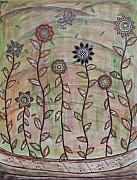 Folk  Paintings - Spring Splendor by Rain Ririn